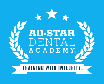 All-Star Dental Academy logo .. Dental All-Stars Podcast featuring Mary Fisher-Day